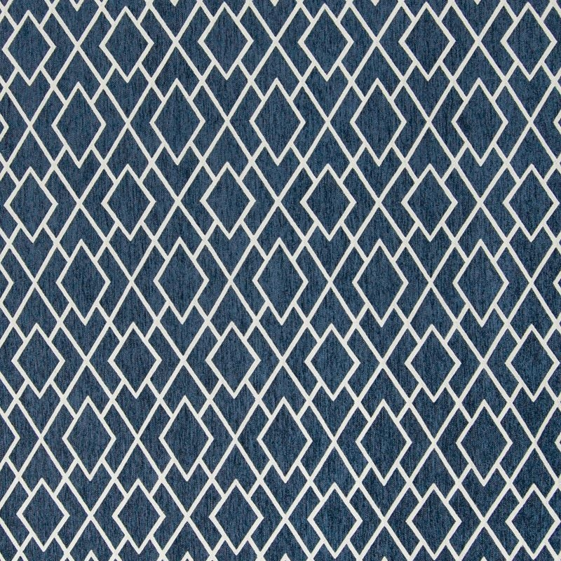 B7628 Pacific, Blue Geometric Upholstery by Greenh