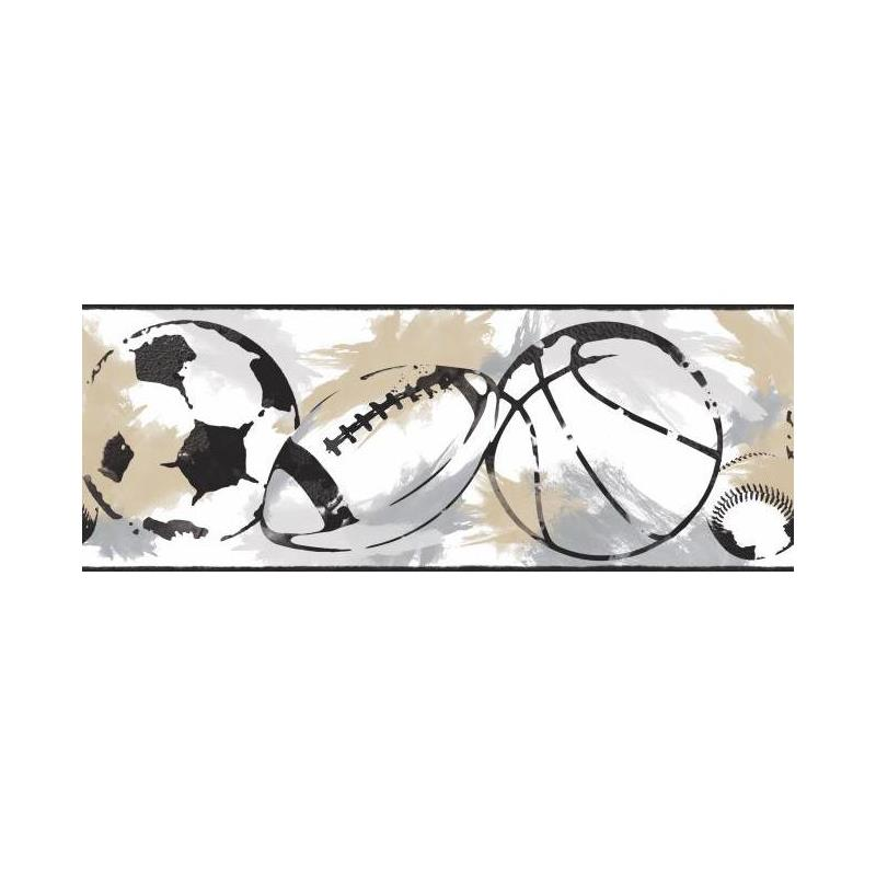 BS5311BD Sports Balls Border by York Wallcoverings