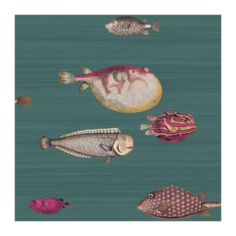 114-12024 Acquario, Viridian Print by Cole and Son