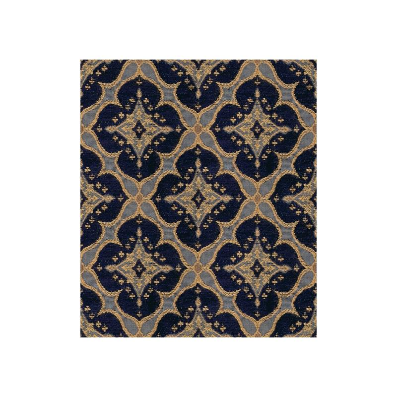 28828.450.0 Ornament Accent Indigo Blue Upholstery