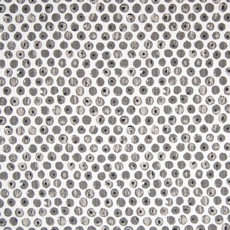 F1280 Gray, Gray Dot Circle Multipurpose Fabric by