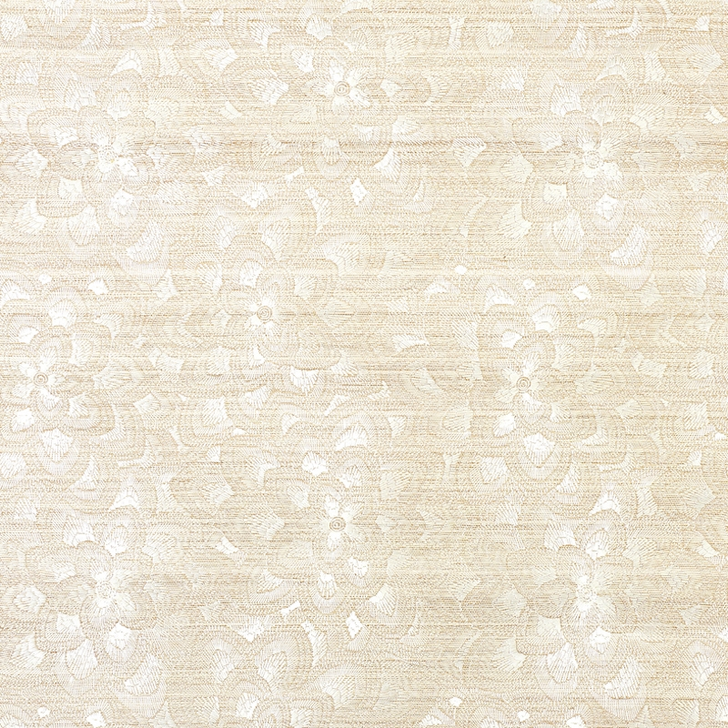 5011210 Lotus Embroidery Sisal, Ivory by Schumache