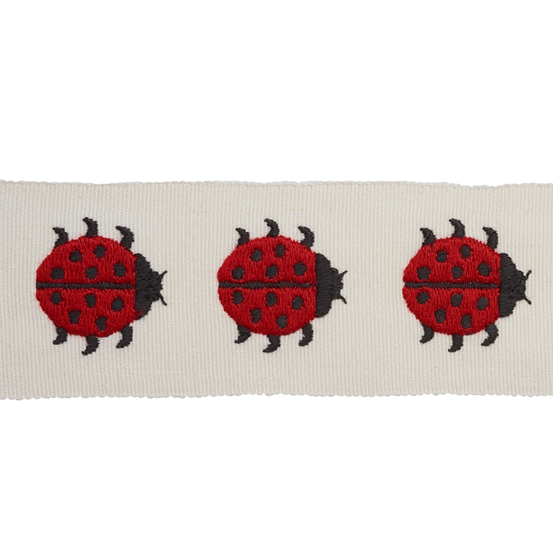 77390 Ladybird Tape, Red and Ivory by Schumacher F