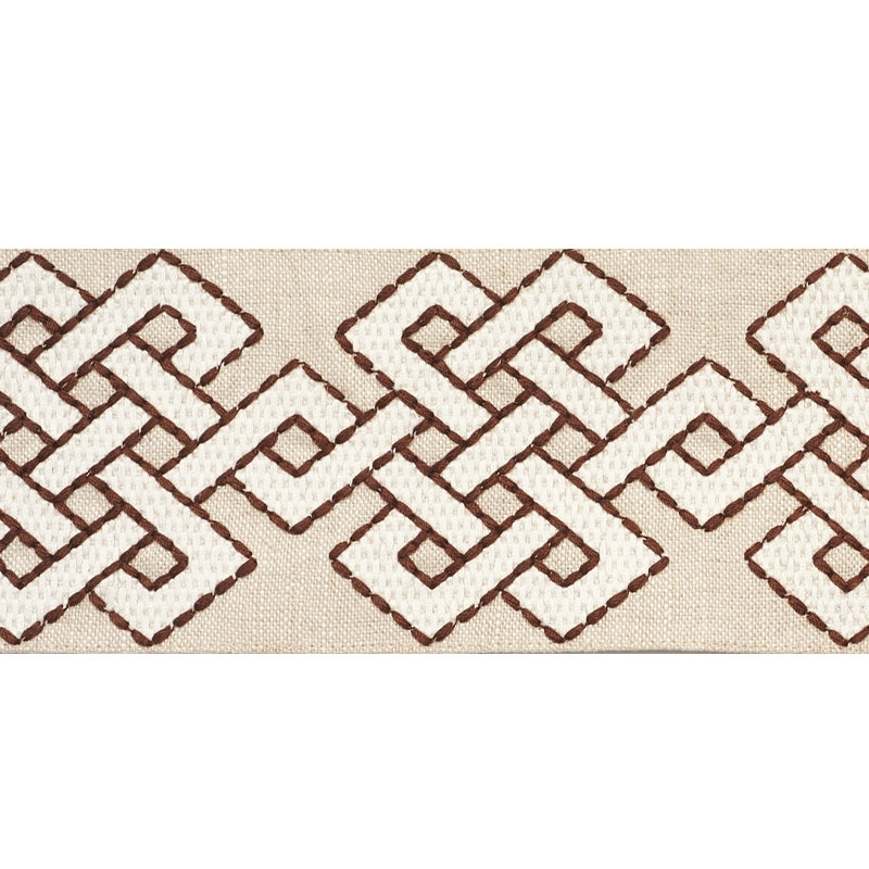 77222 Chesterton Tape, Brown by Schumacher Fabric