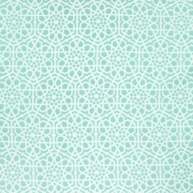 B7601 Seamist, Teal Geometric Upholstery by Greenh