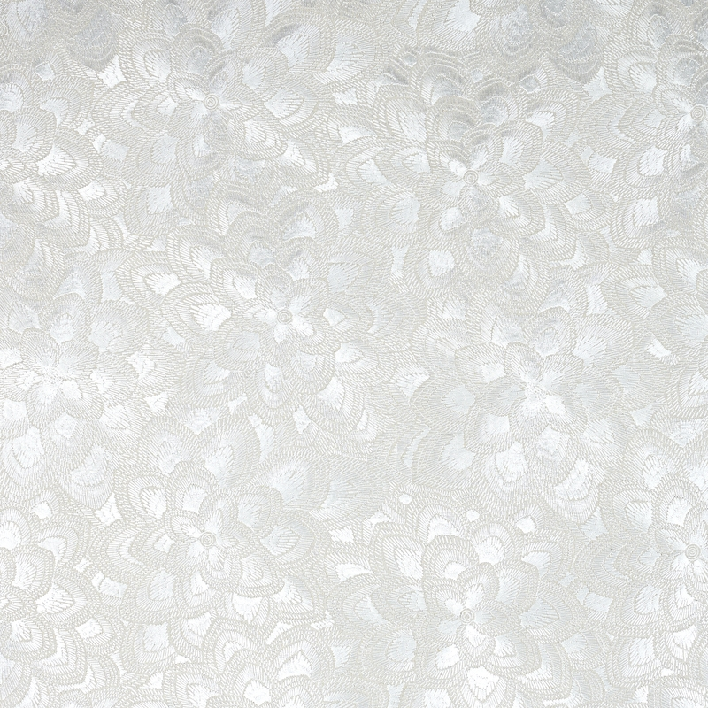 78341 Lotus Embroidery, Pearl by Schumacher Fabric
