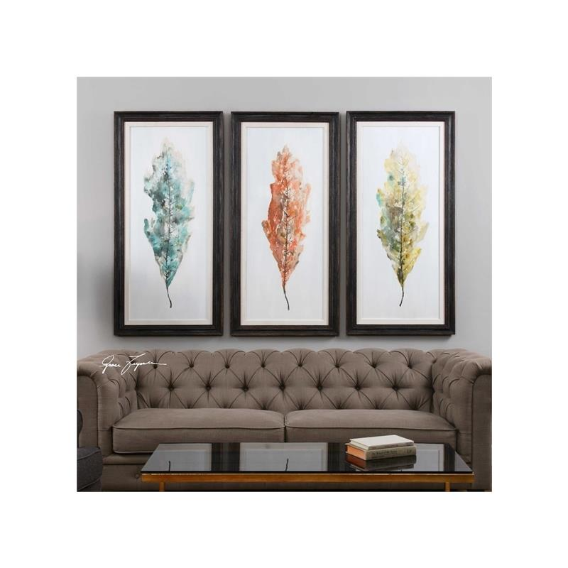 33634 Tricolor Leaves S/3 by Uttermost