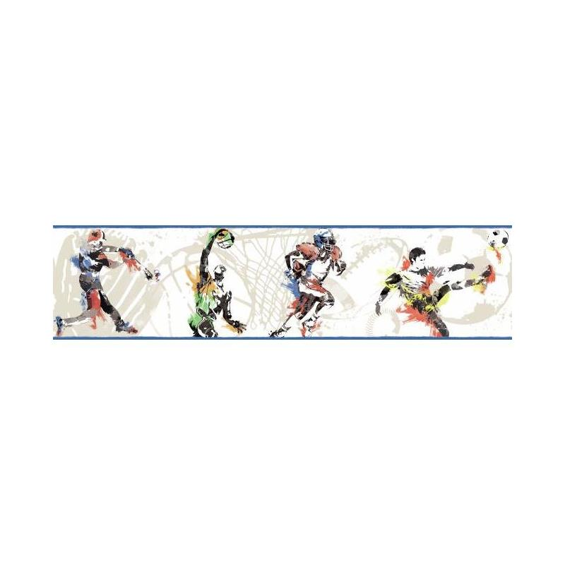 BS5305BD Sports Players Border by York Wallcoverin