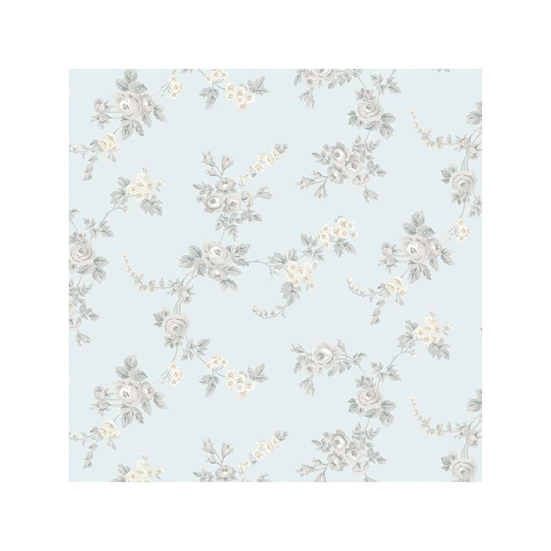 AF37706 Flourish Abby Rose 4, Blue Chic Rose Wallp