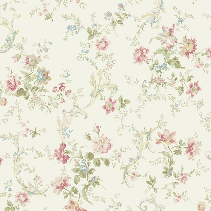 FG70511 Flora Florals With Scroll Wallquest