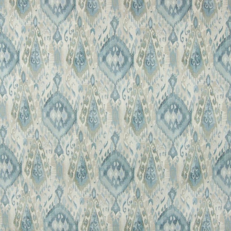 B7075 Harbor, Blue Ikat Multipurpose by Greenhouse