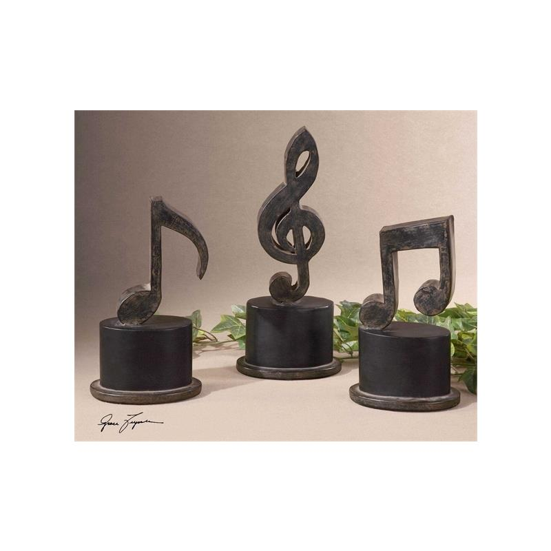 19280 Music Notes S/3 by Uttermost