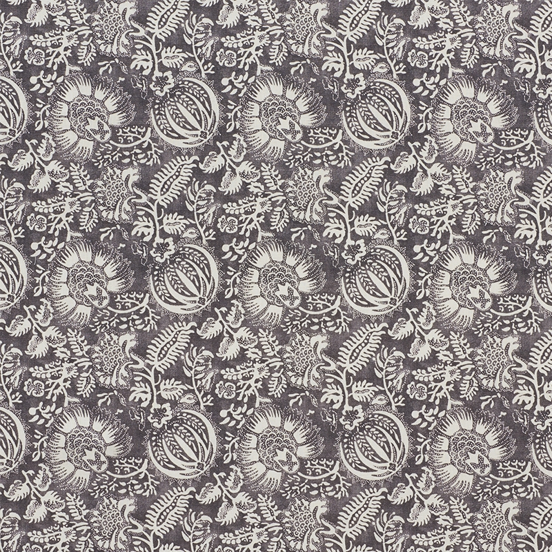 177691 Pomegranate Print Charcoal by Schumacher Fa