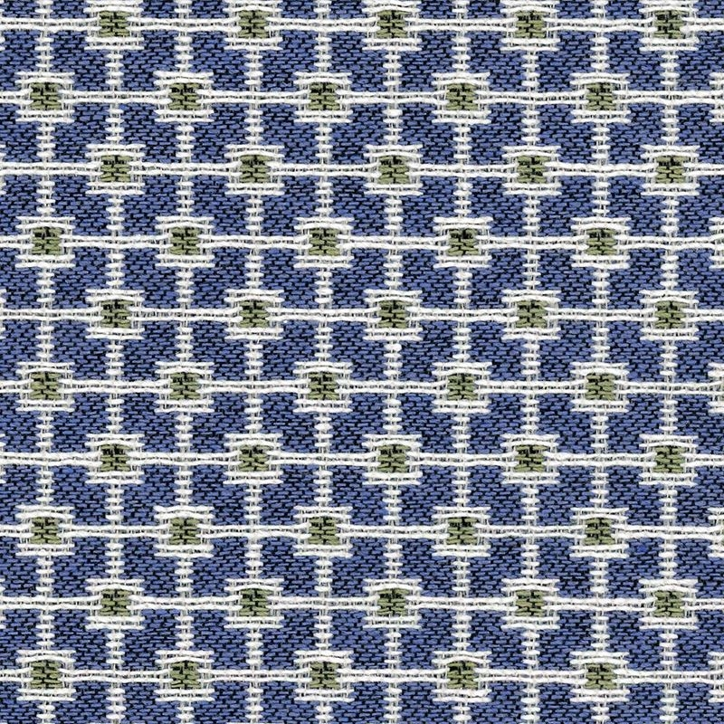 34311.523.0 Blue Upholstery Geometric Fabric by Kr