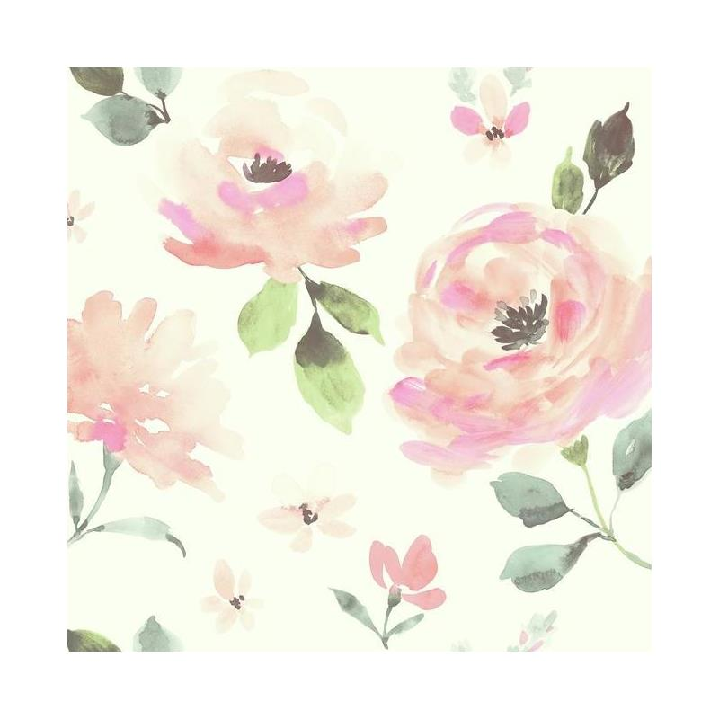 LK8318 Watercolor Blooms by York Wallcoverings