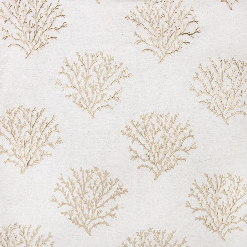 B2803 Taupe, Gold Tropical Drapery by Greenhouse F