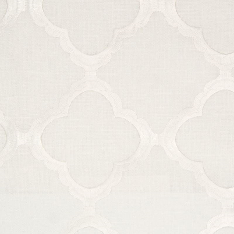 B8004 Ice, White Geometric by Greenhouse Fabric