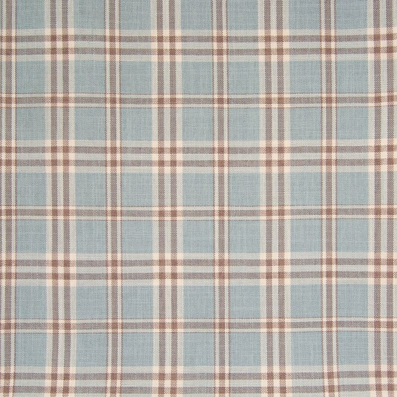 B7586 Sky, Blue Plaid Check Upholstery by Greenhou