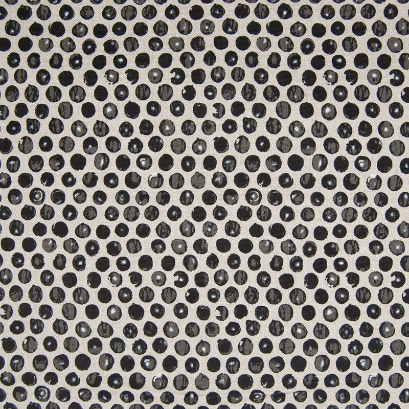F1292 Black, Black Dot Circle Multipurpose Fabric