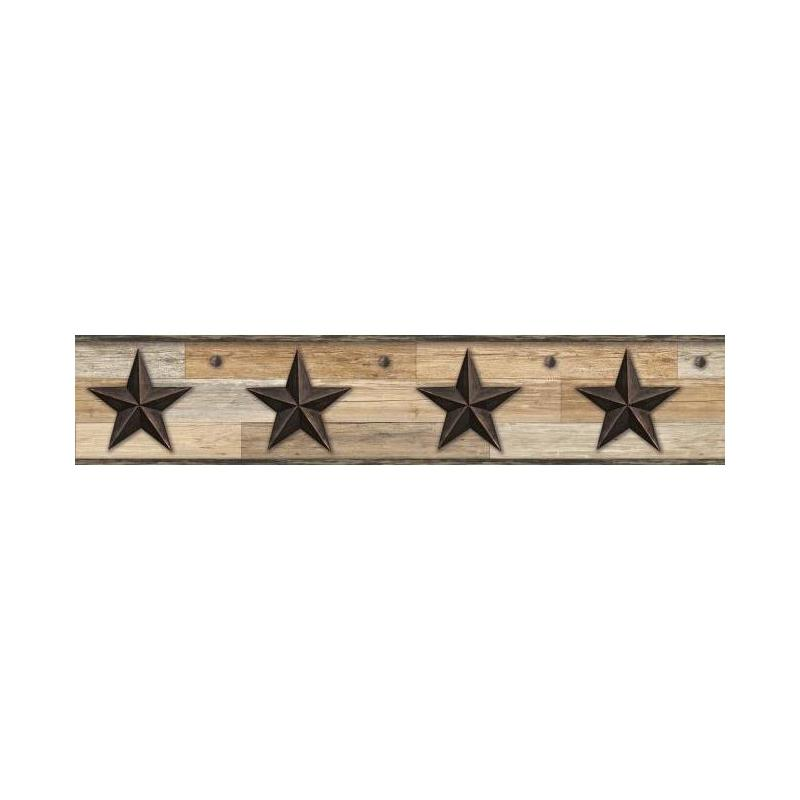 LG1315BD Pallet Star Border - Black by York Wallco