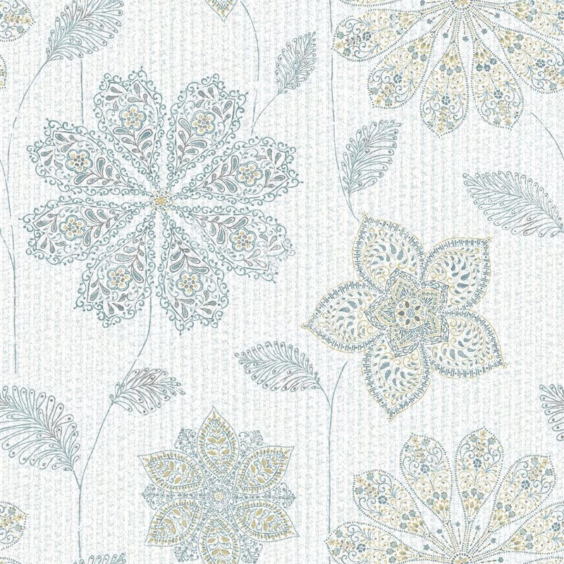 NU1697 Gypsy Floral Blue/Green , Flowers Peel and