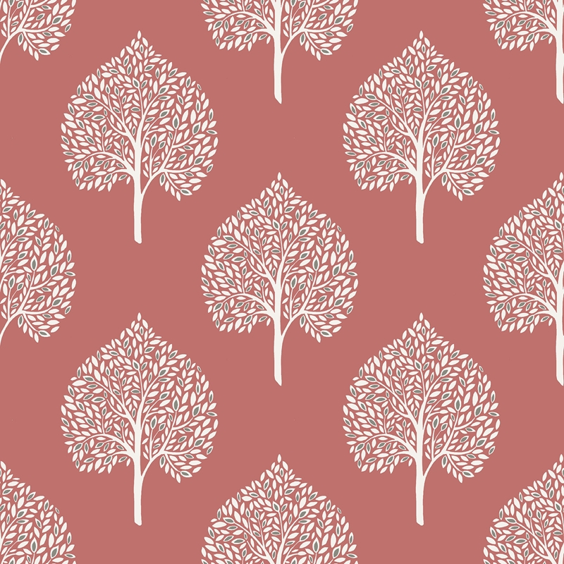 NU1698 Grove Coral , Trees Peel and Stick Wallpape