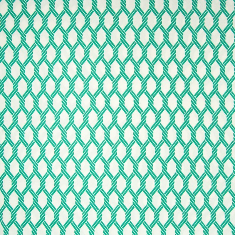 B6911 Emerald, Green Geometric by Greenhouse Fabri