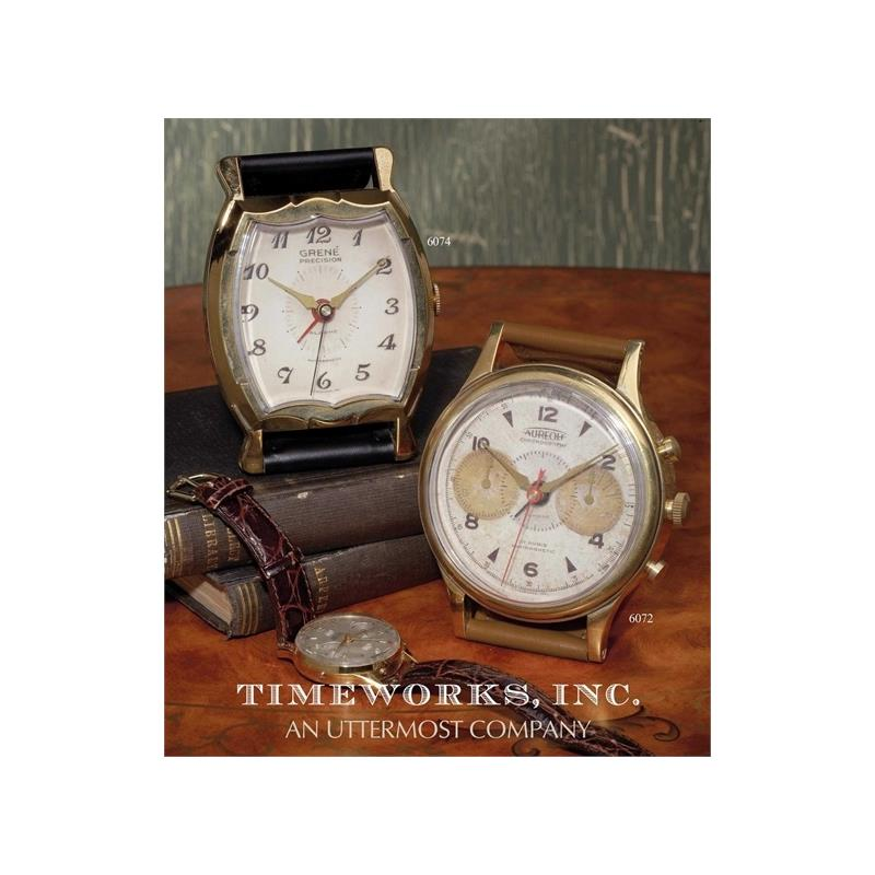 06072 Wristwatch Alarm Round Aureole by Uttermost