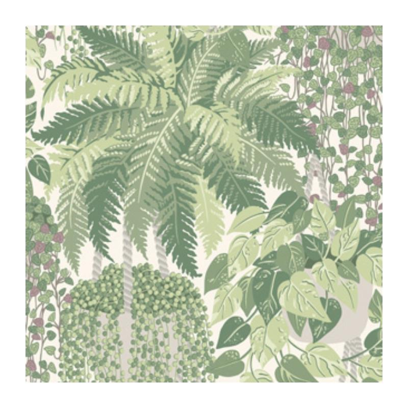115-7021 Fern, Leaf Green And Olive Print by Cole