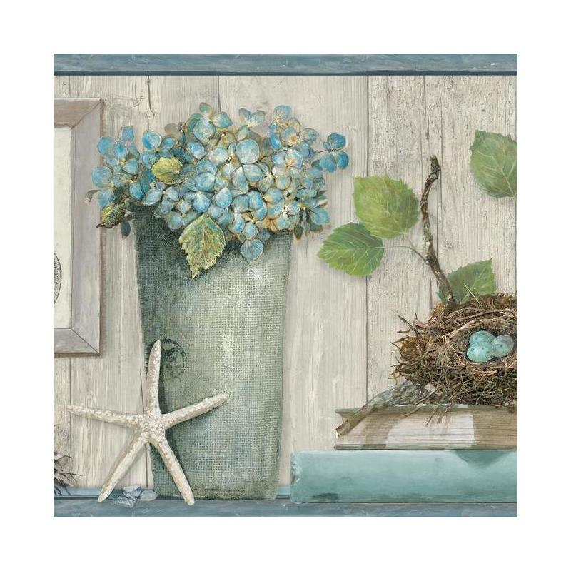 LG1325BD Coastal Treasures  Border - Blue by York