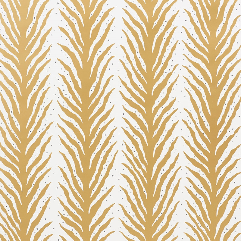 5009453 Creeping Fern Gold by Schumacher Wallpaper