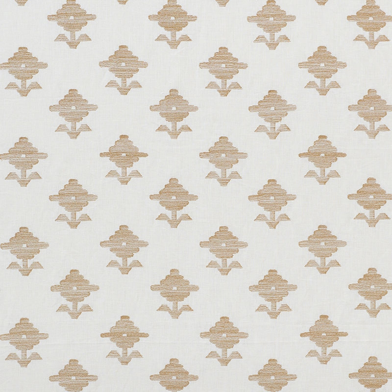 74160 Rubia Embroidery, Ivory by Schumacher Fabric
