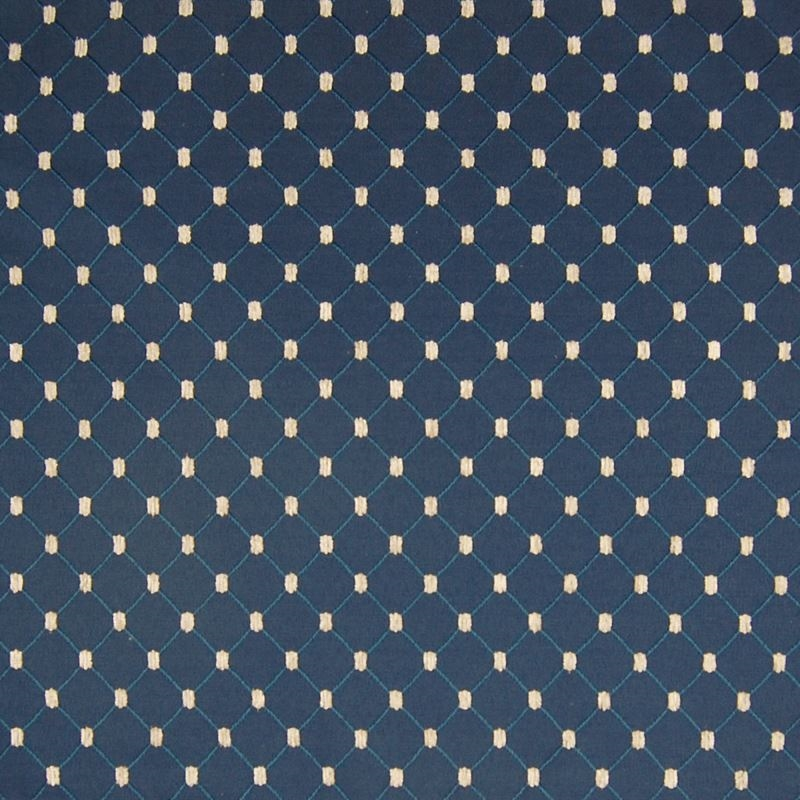 A4455 Navy, Blue Geometric Upholstery by Greenhous