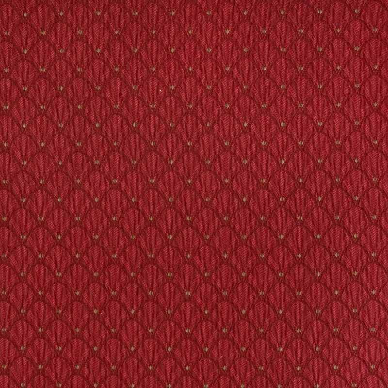 A6516 Ruby, Red Medallion Upholstery by Greenhouse