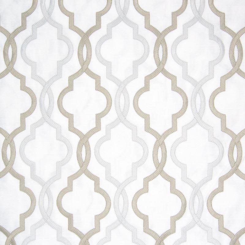 B8030 Ivory, Gray Geometric by Greenhouse Fabric