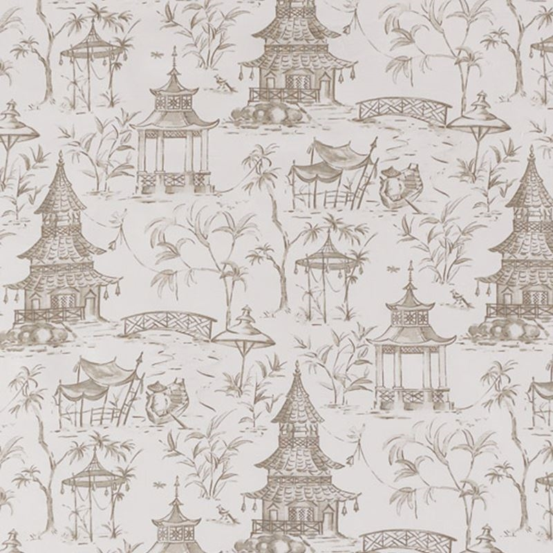 F1276 Bisque, Neutral Toile Multipurpose Fabric by