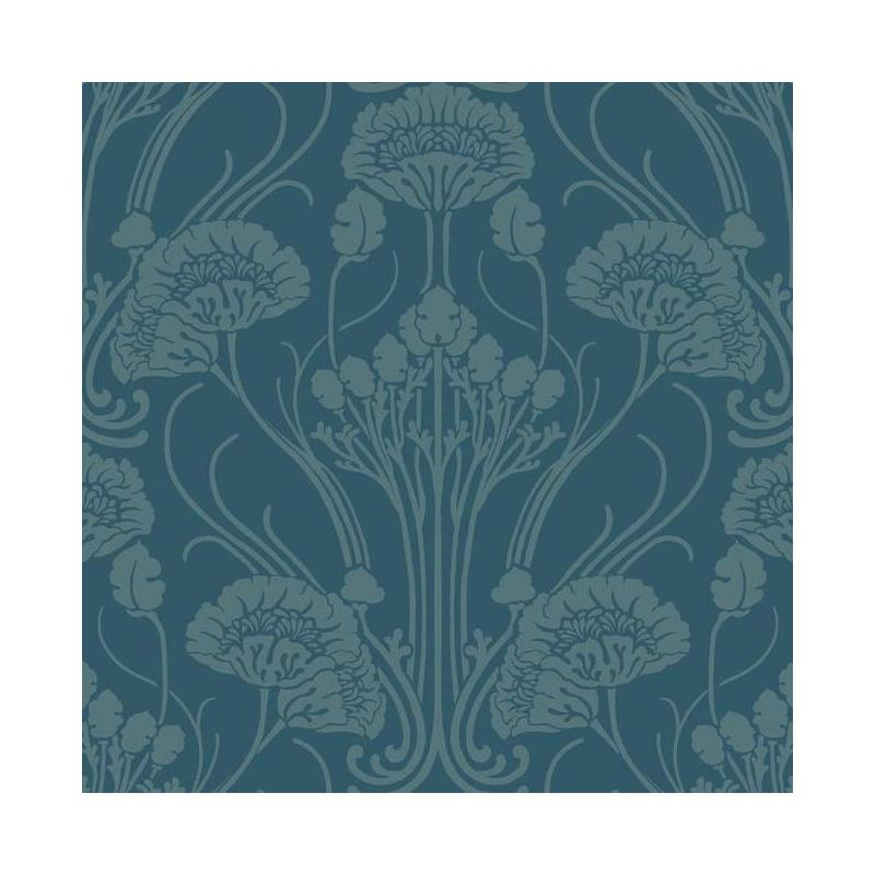 CA1565 Deco, Nouveau Damask, Blues Botanical Anton