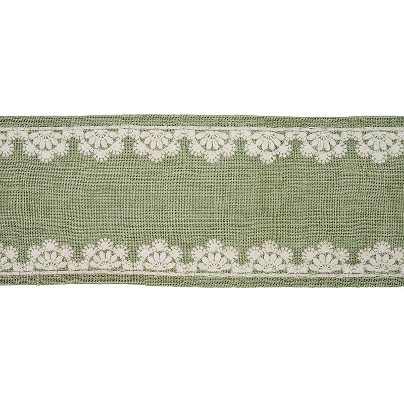 77570 Cecily Tape, Sage by Schumacher Fabric