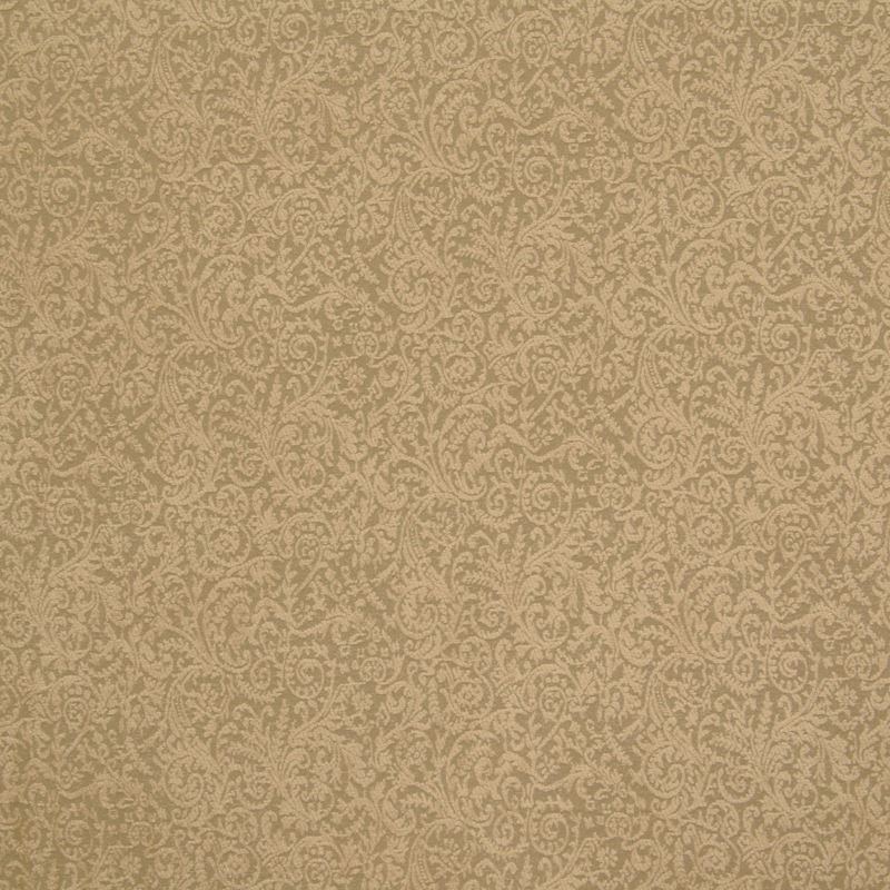 B6426 Almond, Gold Scroll by Greenhouse Fabric