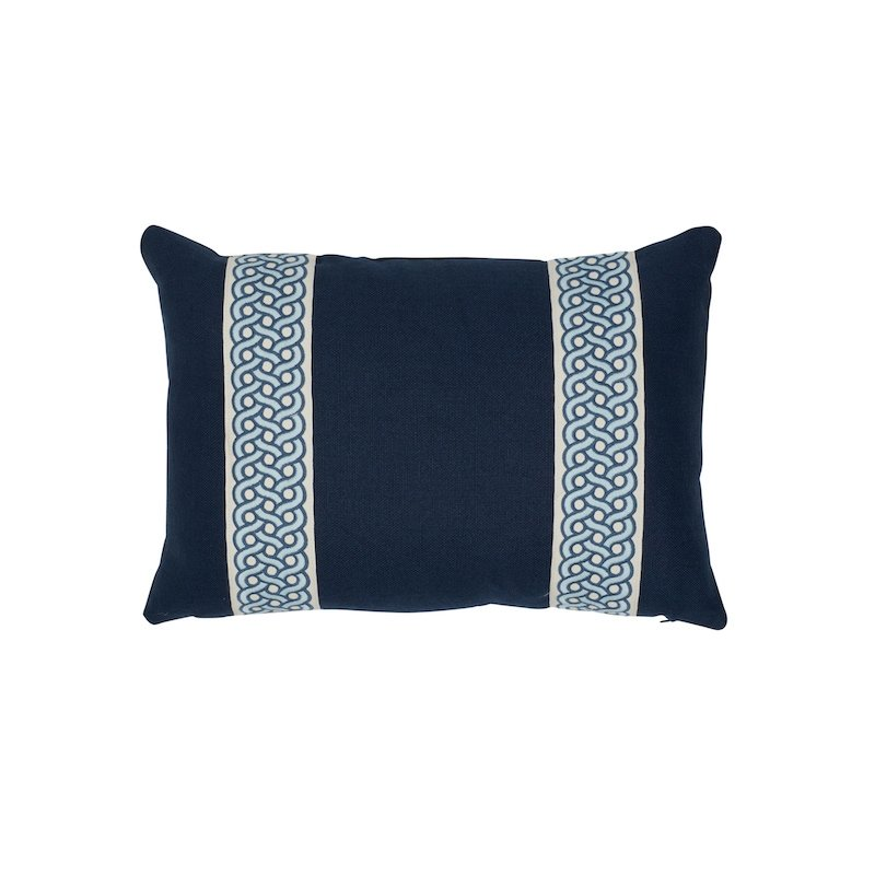 So7715315 Mandeville Pillow, Indigo And Pacific By