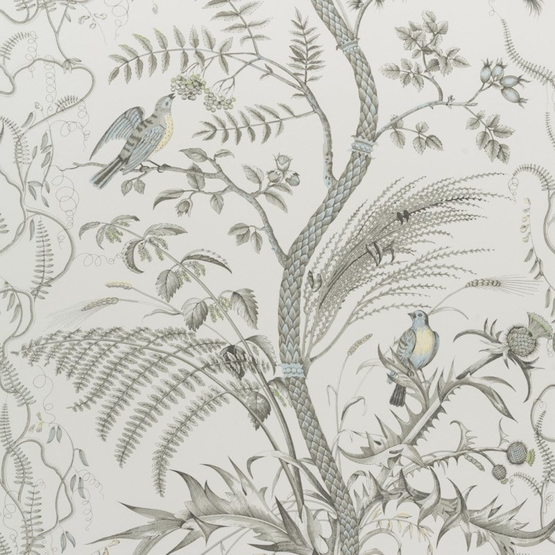 BR-69518.11 Bird And Thistle Gray Brunschwig and F