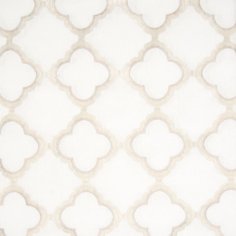 B8016 White, Neutral Geometric N/A Fabric by Green