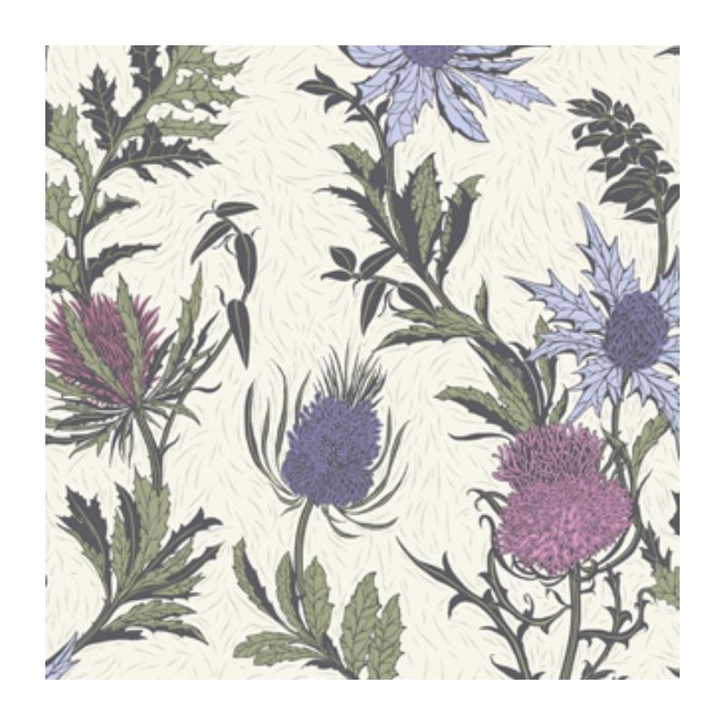 115-14044 Thistle, Lilac Cerise White Print by Col