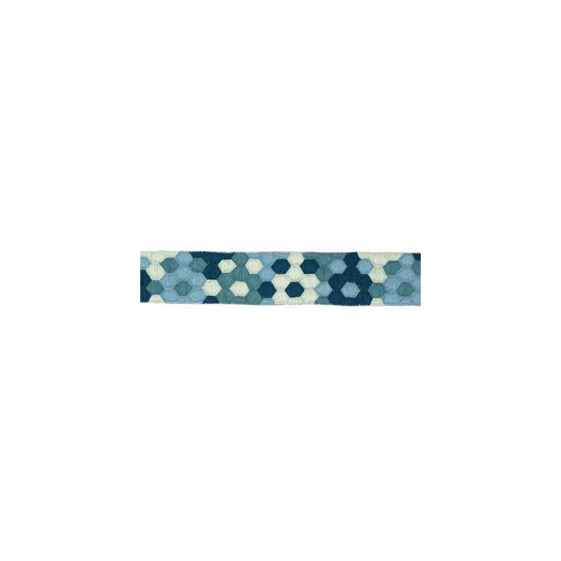 HONEYCOMB.TEAL.0 Honeycomb Blue Groundworks Fabric