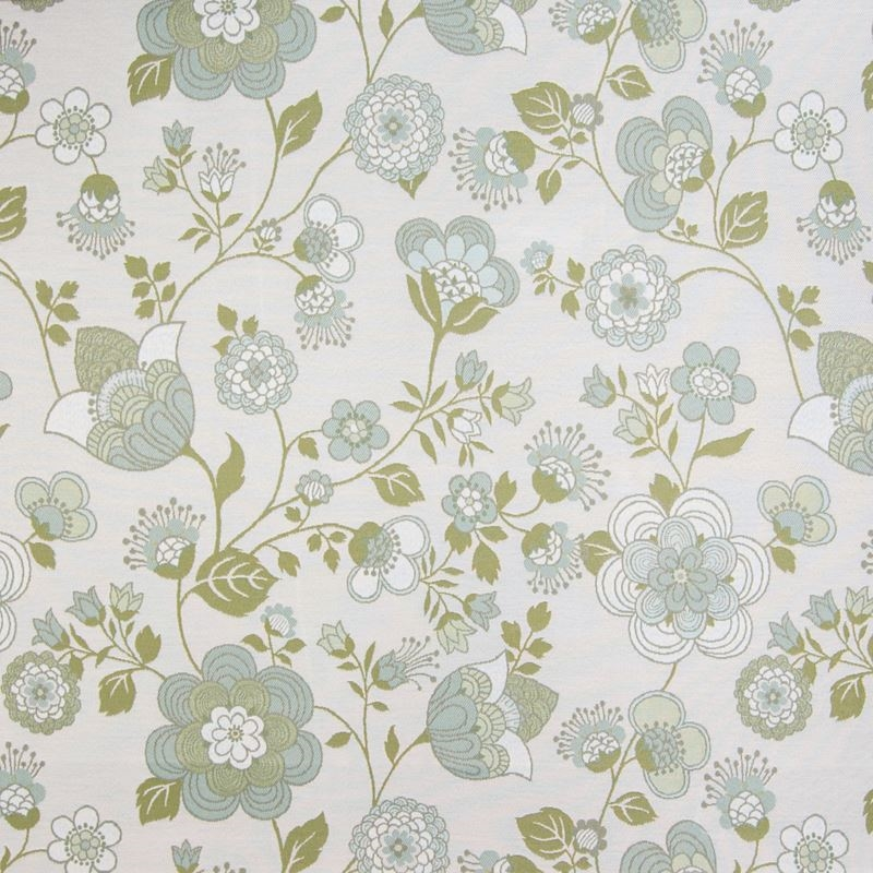 B4120 Seaglass, Blue Floral Upholstery by Greenhou