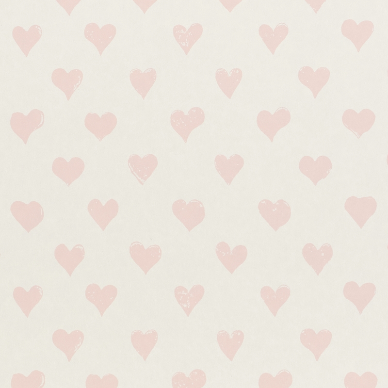 5011160 Hearts, Pink by Schumacher Wallpaper