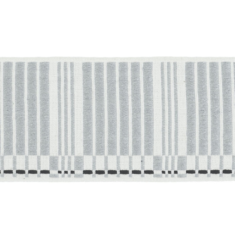 79211 Carmo Tape Wide, Silver and Black by Schumac