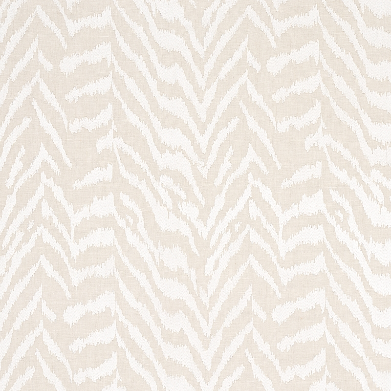 80670 Quincy Embroidery On Linen, White By Schumac
